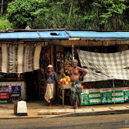 mieszkańcy Sri Lanki, stragan