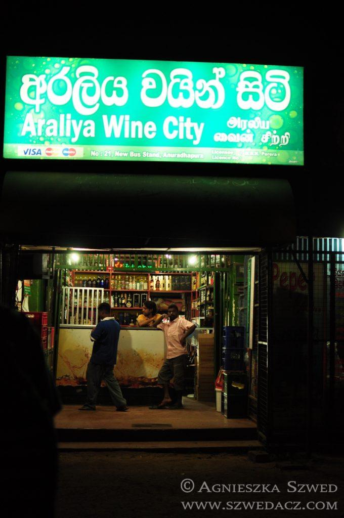 Sri Lanka, sklep monopolowy, alkohole