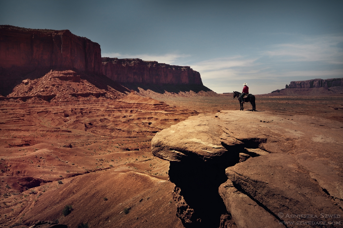 W Monument Valley, krainie Indian Nawaho