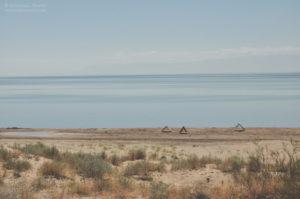 Nad jeziorem Kapszagaj.