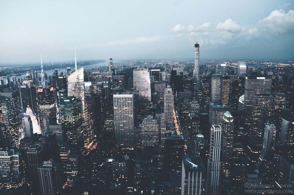 Widok naNowy Jork zEmpire State Building