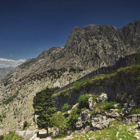 góry, twierdza kotorska