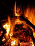 Rumunia: okolice Jaskini Niedźwiiedziej, ognisko, ogień