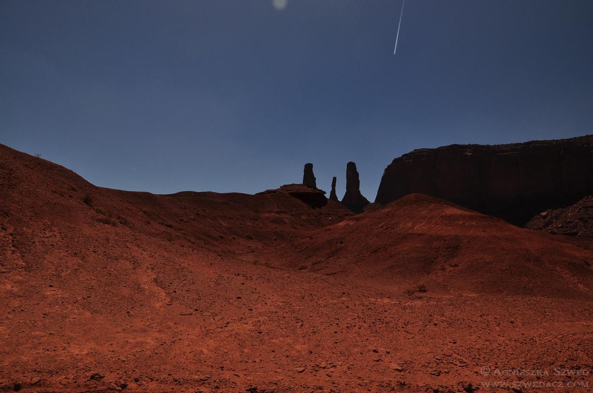 W Monument Valley, krainie Indian Nawaho
