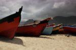 łódki w Baia das Gatas, Cabo Verde.
