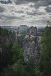 Bastei - widok na skalny most.