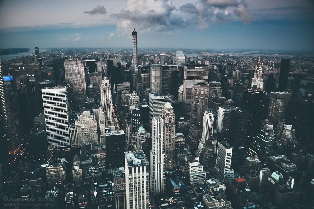 Widok na Nowy Jork z Empire State Building