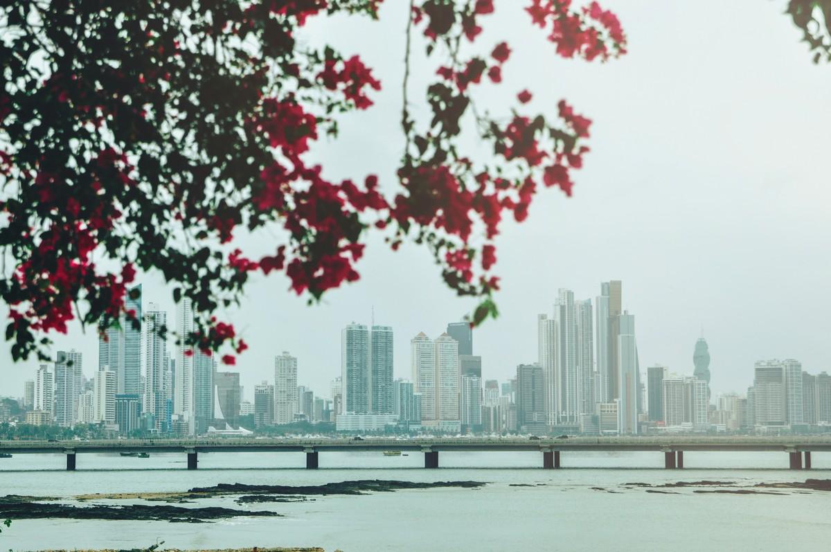 Widok z Casco Viejo, Panama City