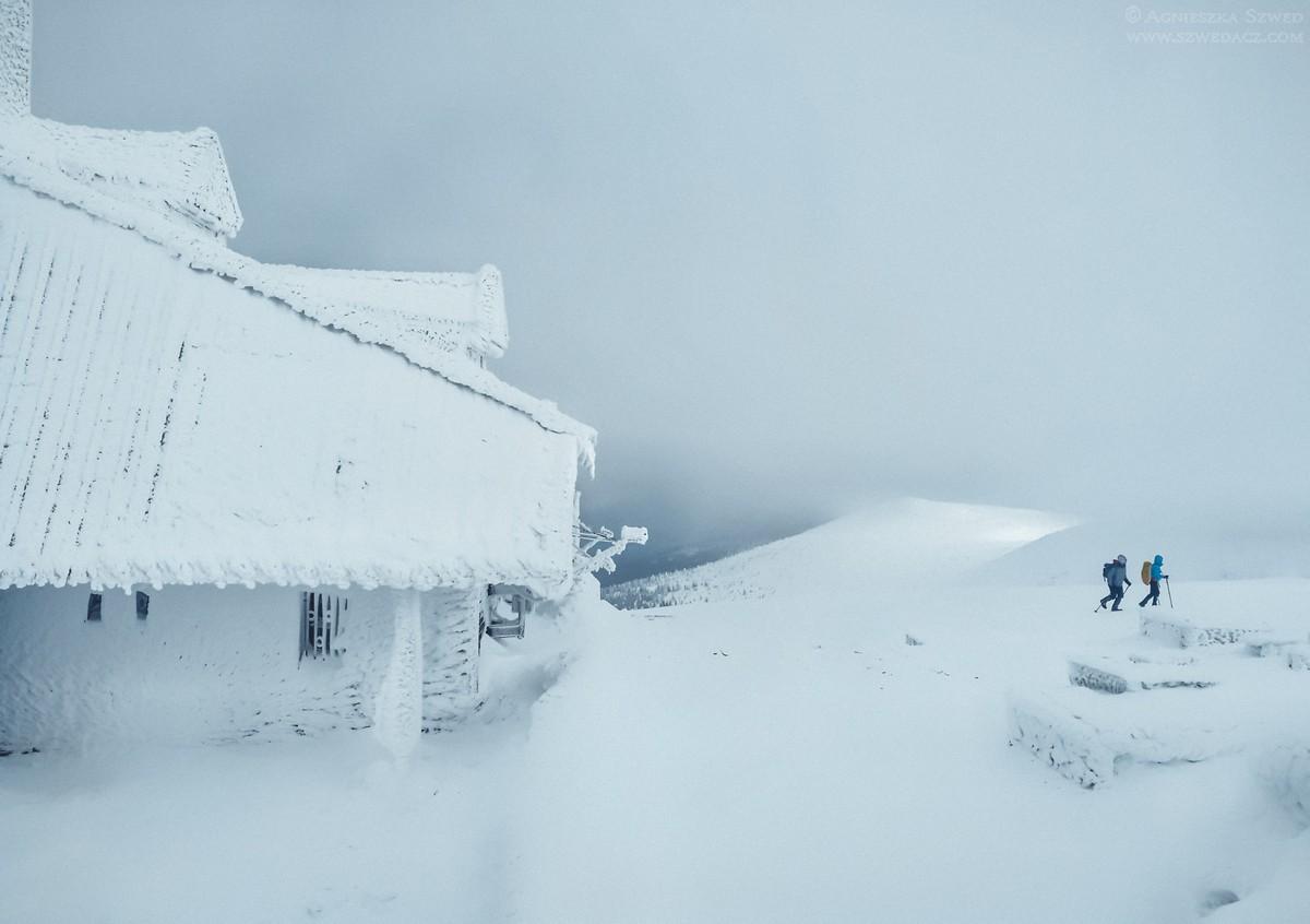 Śnieżne Kotły zimą - Karkonosze