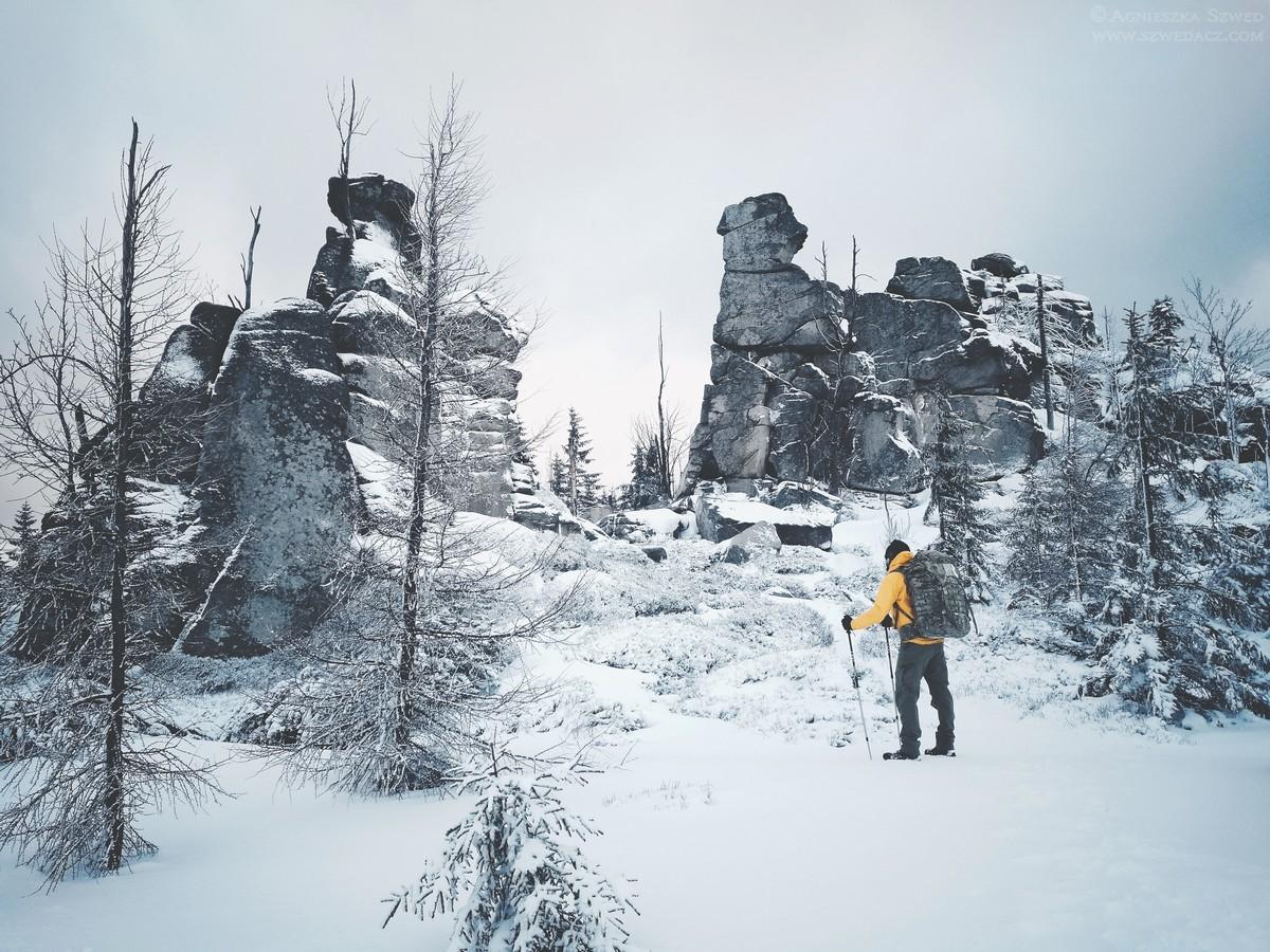 Zima z Karkonoszach - Owcze Skały