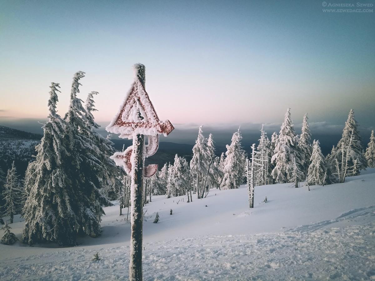 Zima z Karkonoszach
