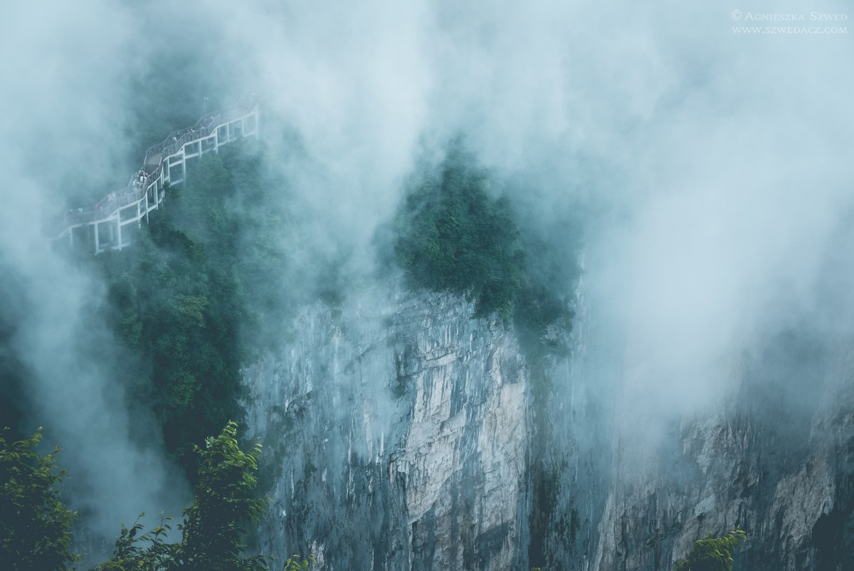 Widoki z Tianmen Mountain