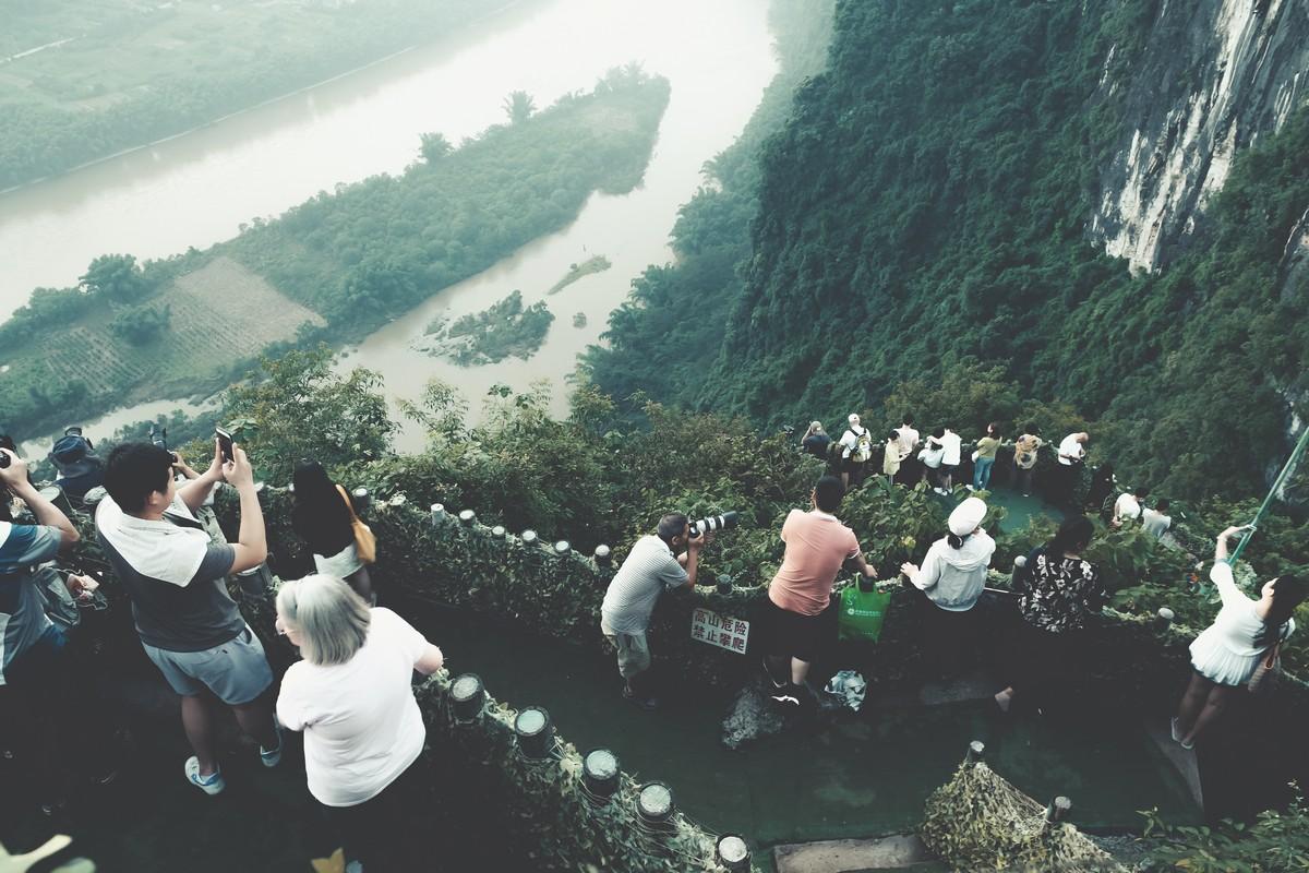 Wschód słońca w Yangshuo